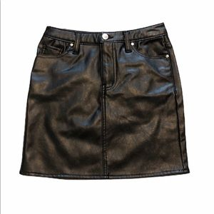 Material Girl Faux-Leather  Mini Juniors' Skirts